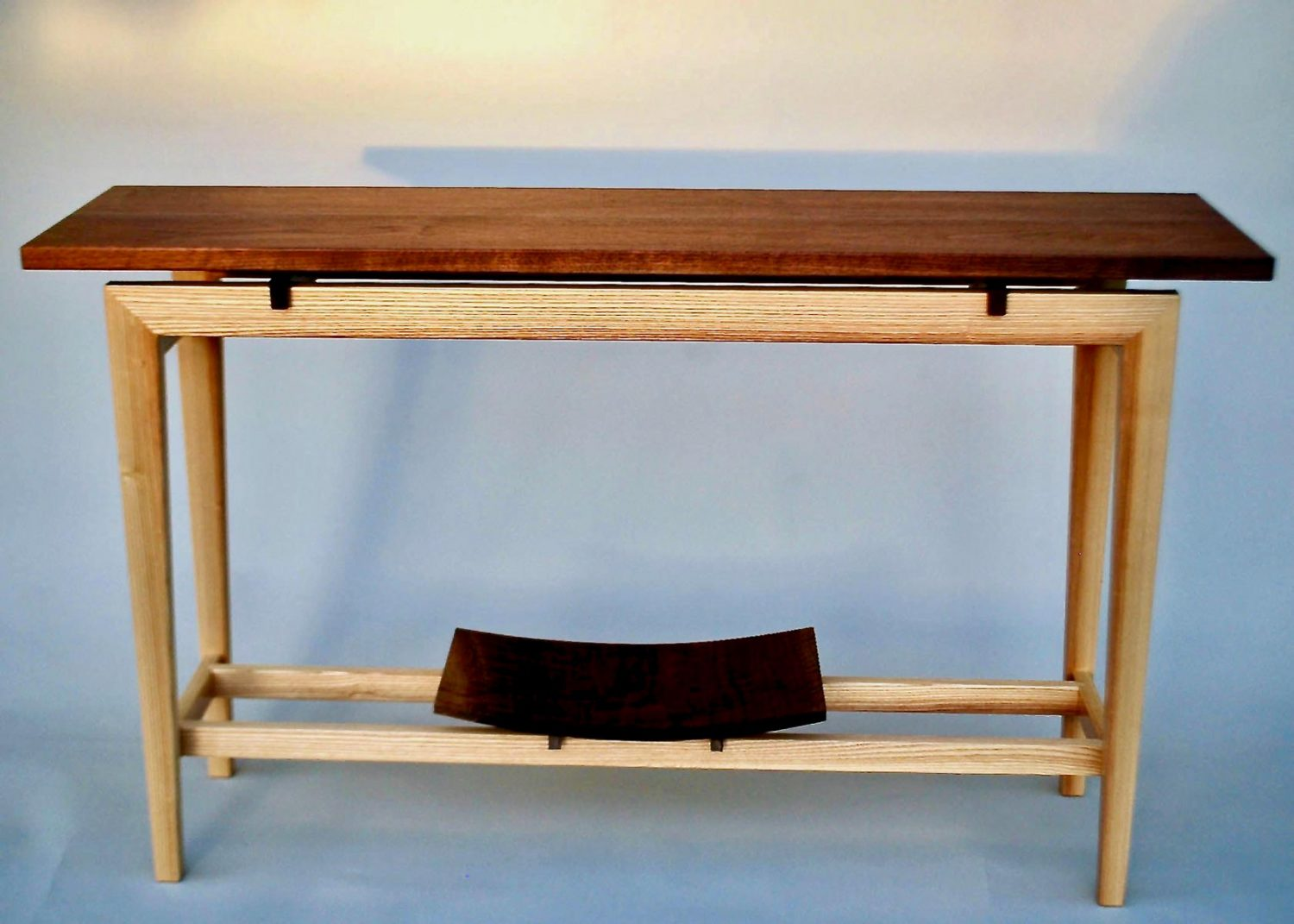 March 2021 Exhibits and Virtual Tour - Handcrafted hall table by Jens Sehm