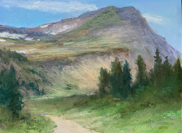 Highline Trail, pastel by Willo Balfrey