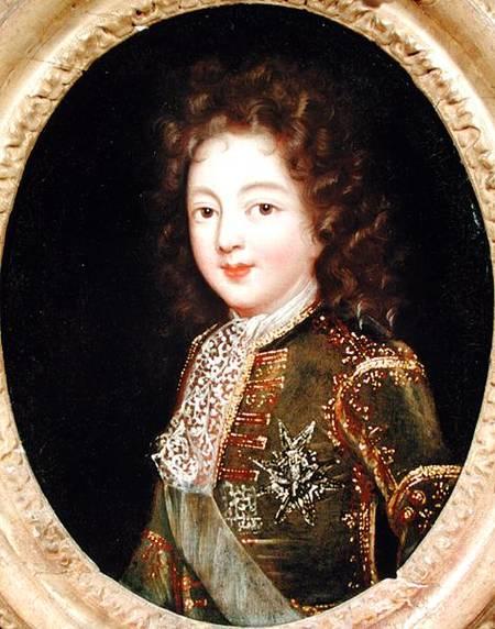 Louis De France (1682-1712) : louis, france, (1682-1712), Portrait, Louis, France, French, School, Print, Painted