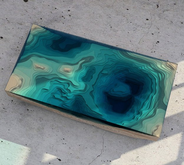 amazing coffee table resembles the depths of the ocean quite