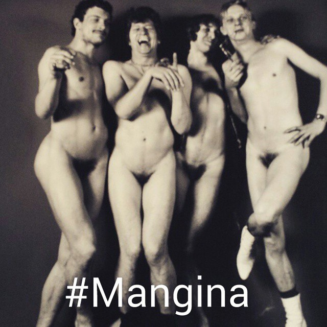 mangina Men Pose With Their Penis Hidden Between Their