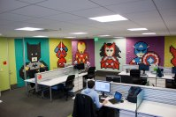 Creative Agency Staff Installs Superhero Murals On Their ...