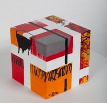 cube 10 I, acryl auf holz, 10x10x10cm, 2016