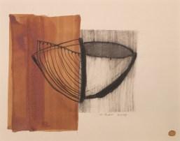 licht und schatten, mixed media auf papier, 43x53cm gerahmt, 2018