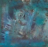 liebe unter fischen, acryl auf metall, 33x35cm, 2014