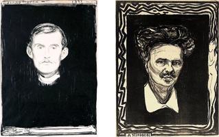 Edvard Munch and Johan August Strindberg