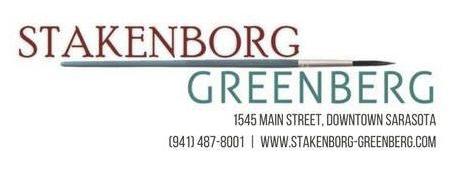 Stakenborg-Greenberg Fine Art logo White