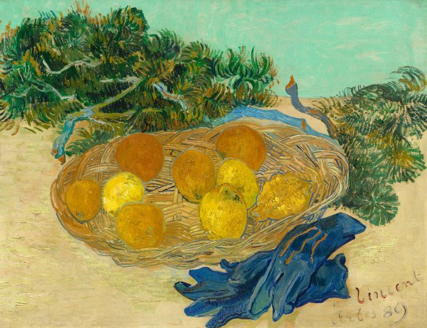 Van Gogh - Life With Oranges Lemons And Blue Gloves 1889 Painting Analysis
