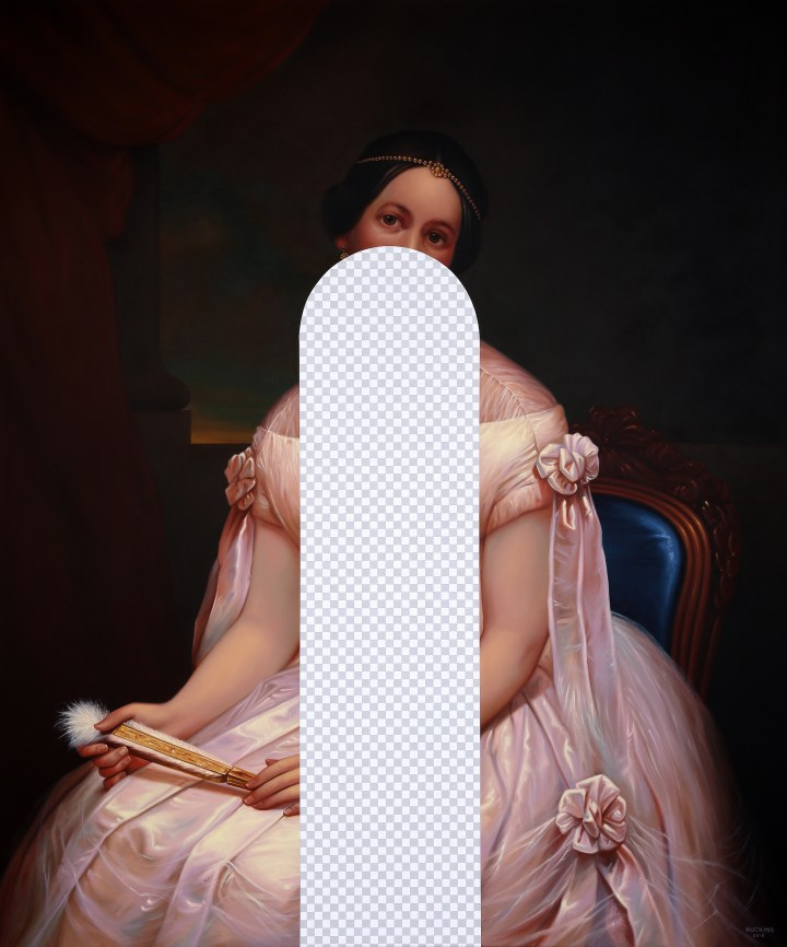 22_He Said. She Said. She Said. (Julia Gardiner Tyler, White House Art Collection Erasure No. 18)