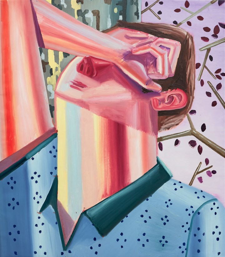 Hide and seek, oiloncanvas,148x 129, 2018, photocredit_David_Biro_curtesy_of_Art +Text Budapest