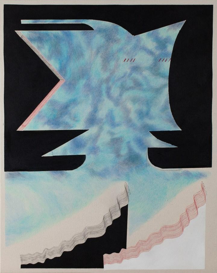 3 Untitled 2018 mixed media on raw canvas 100x80cm