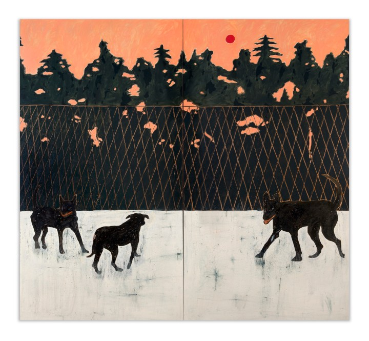 Sunset-with-dogs--220-x-240-cm--Oil-on-canvas--2018_1750