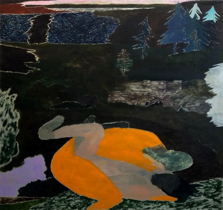 Andrea Barzaghi_Amanti, 2019, oil on canvas 160x170cm