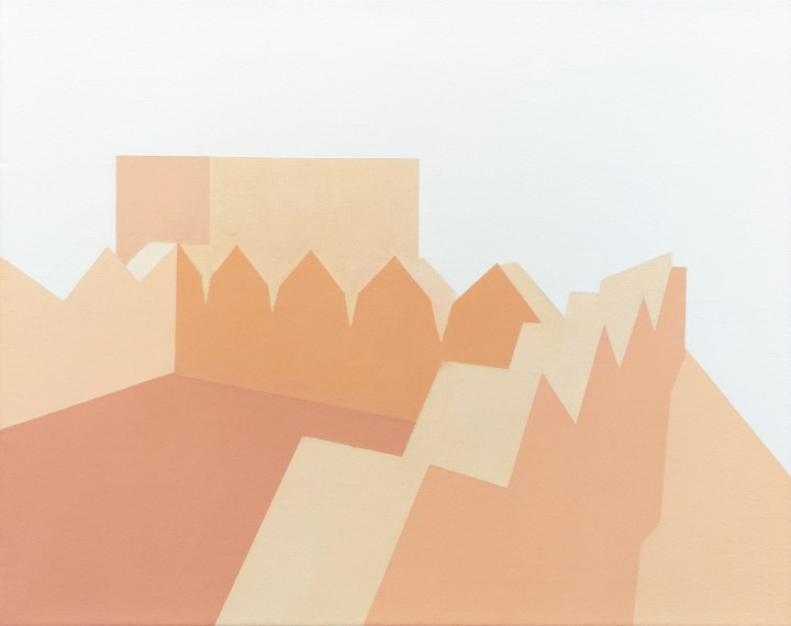 Manuel Stehli, Untitled (Festung II), 2019, 40 x 50 cm, oil on canvas