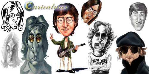 ג'ון לנון קריקטורה