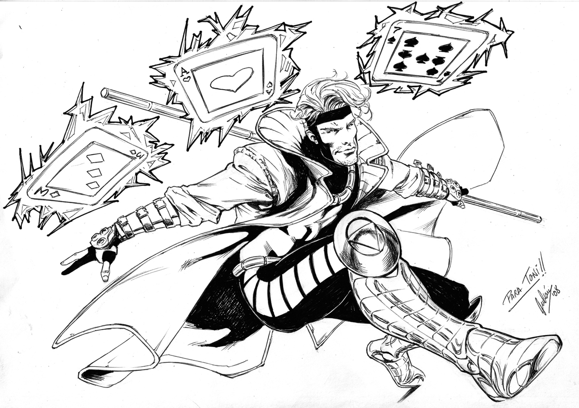 Free Coloring Pages Download : Gambit In Jorge Osorio Mendezu0027s Julian Lopez  Art Missions Of Gambit