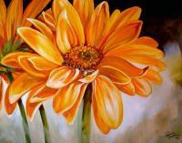 GERBERA DAISY 28 - by Marcia Baldwin from Florals