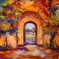 INTO THE TUSCANY GARDEN - by Marcia Baldwin from Landscapes