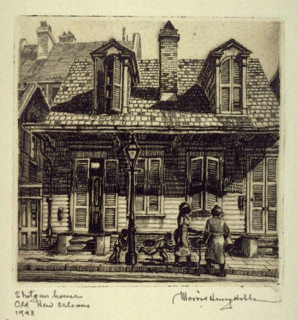 Old New Orleans Shotgun Houses