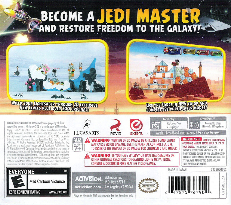 But, hey, you get to fire jar jar binks into a brick wall as many times as you like. Ande Angry Birds Star Wars
