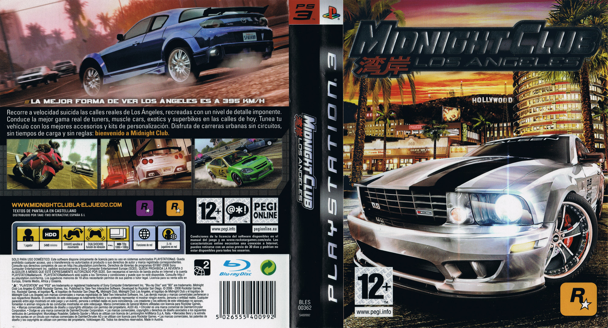 BLES00362  Midnight Club Los Angeles