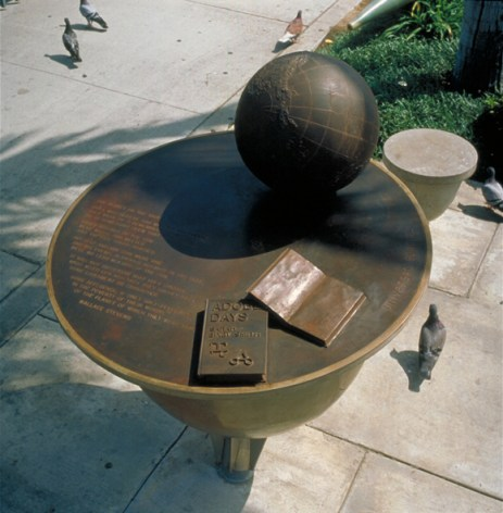 """Jacqueline Dreager, """"The Great Gathering Place""""(sundial detail))"""