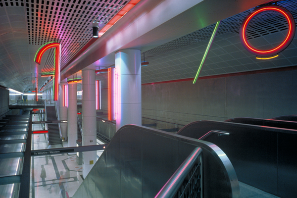 Stephen Antonakos, Neons for Pershing Square