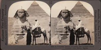 Great Sphinx at Gizeh, the Largest Royal Portrait ever Hewn, Egypt, Keystone View Company, ca. 1900