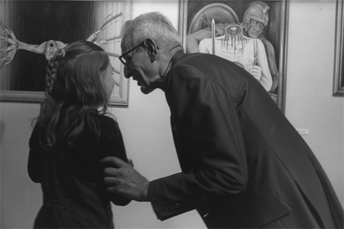 Trinity Valentine and Jack Kevorkian discussing art and alternatives to suicide