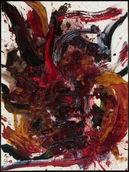 "Kazuo Shiraga, ""Work BB 45,"" 1962. Private collection, courtesy of Paul van Esch & Partners"