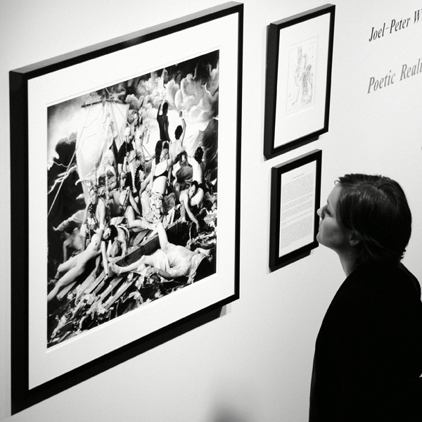 Joel-Peter Witkin opening in 2008 at Catherine-Edelman/Photo: Paul Germanos