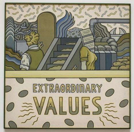 """Ray Yoshida, """"Extraordinary Values,"""" c. 1970."""