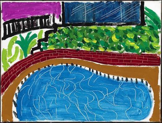 """Montcalm Pool, Los Angeles,"" 1980"