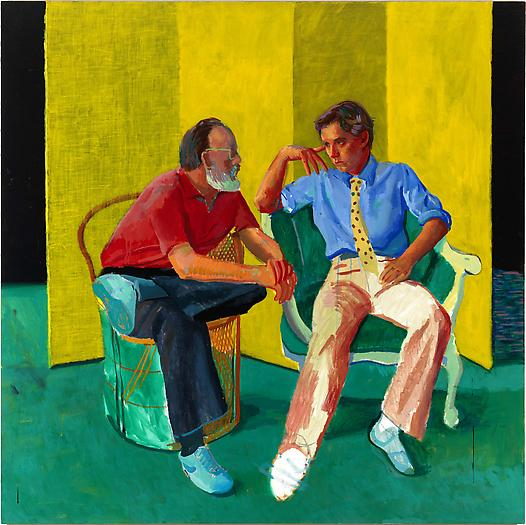 """The Conversation,"" 1980, acrylic on canvas"