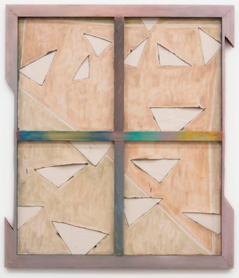 """Eight Over Seven (8/7) Discord,"" oil on cut and collaged canvas, stretcher bars and wire, 2013"