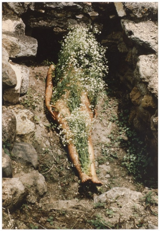 "Ana Mendieta. ""Untitled (from the Silueta series),"" 1973-77"