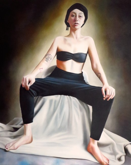 "Julia Haw, ""Claire Molek as Sheikha,"" oil on linen, 2014"
