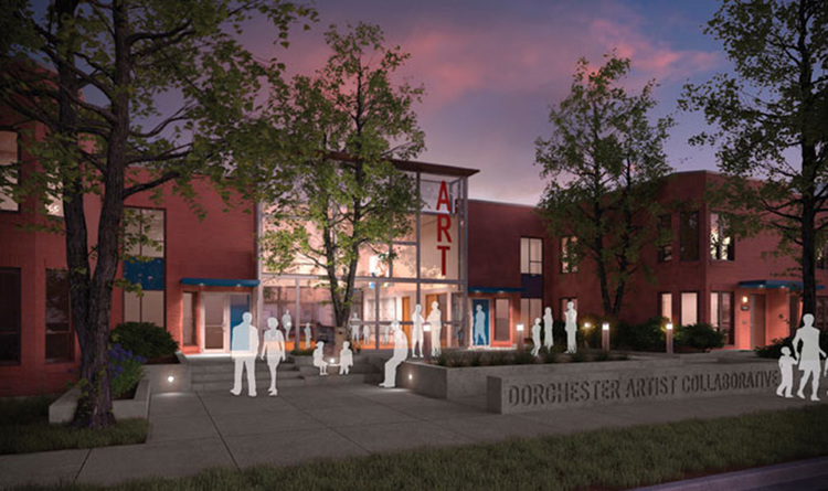 Rendering of the Dorchester Artist Housing + Collaborative by Landon Bone Baker
