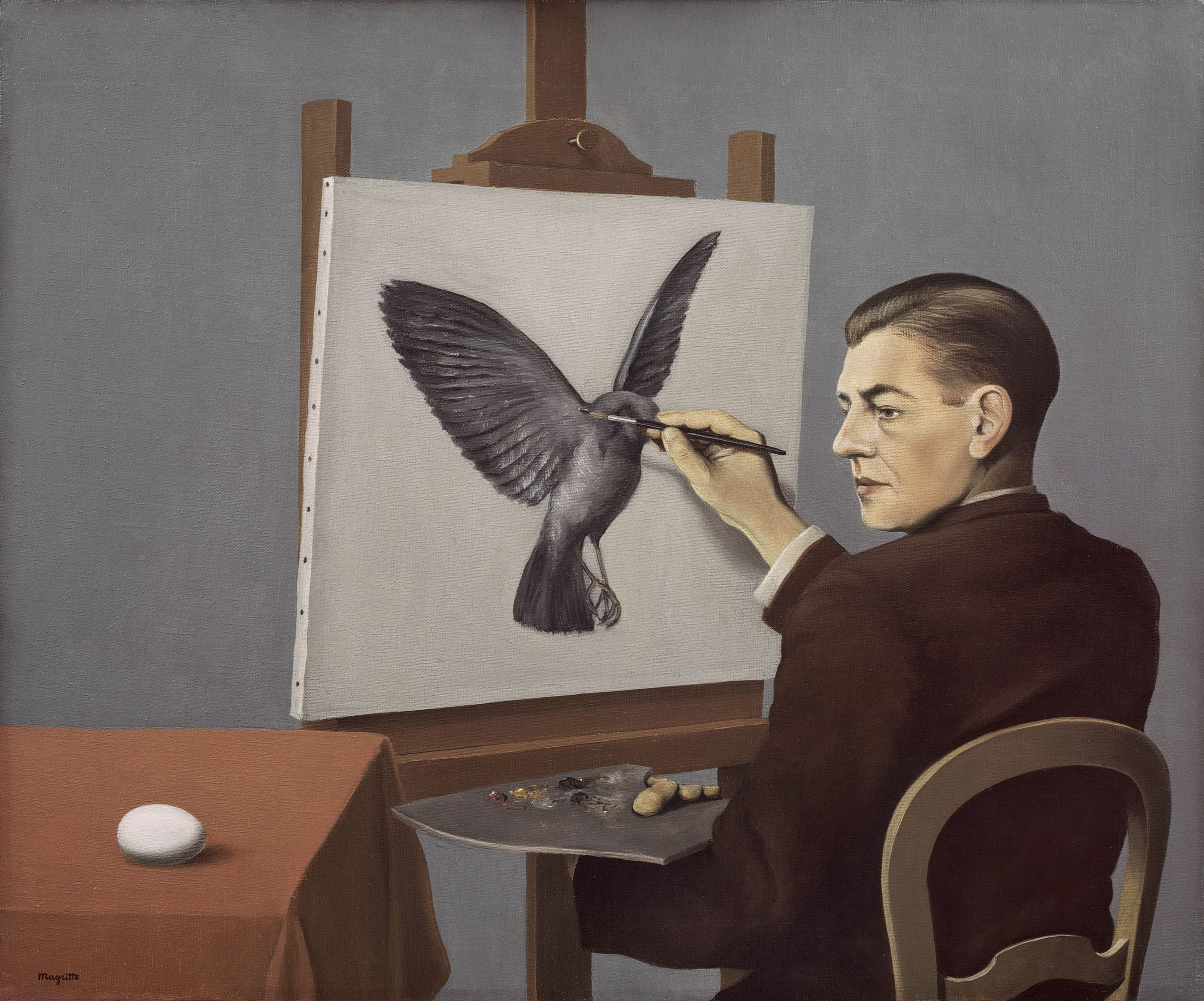 rene margritte Belgian surrealist artist rené magritte gave everyday objects new meaning with  witty juxtaposition in his famous paintings read about him on.