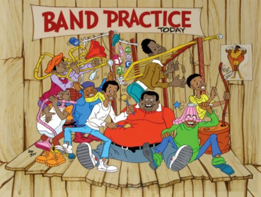 "Fat Albert And The Cosby Kids, ""Band Practice,"" limited edition cel"