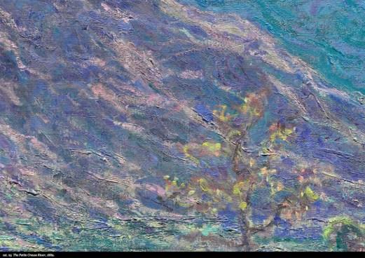 "Detail view of Monet's ""The Petit Creuse River,"" 1889"