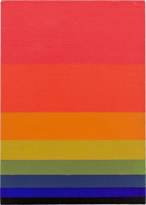 "Norman Zammitt. ""Red to Green I,"" acrylic on canvas board, 1979"