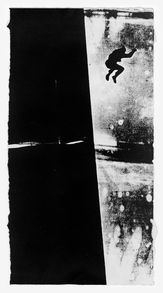 "Sarah Charlesworth. ""Unidentified Man, Unidentified Location,"" 1980, printed 2012"