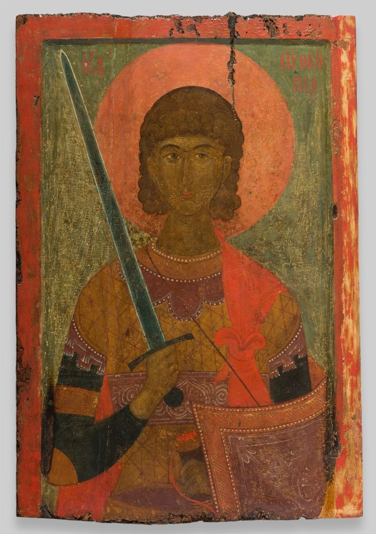 Icon of St. Prokopios, 14th century. Byzantine; Greece, Veroia. Church of Saint Prokopios, Veroia.