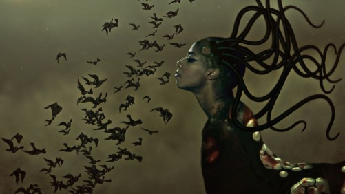 "Wangechi Mutu. ""The End of eating Everything,"" (still), 2013, animated video (color, sound), 8:00 minute loop"