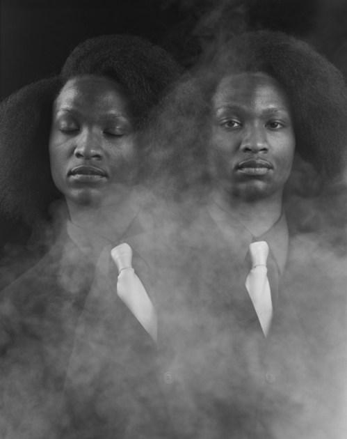 "Rashid Johnson. ""Multiple Consciousness,"" 2010 silver gelatin print"