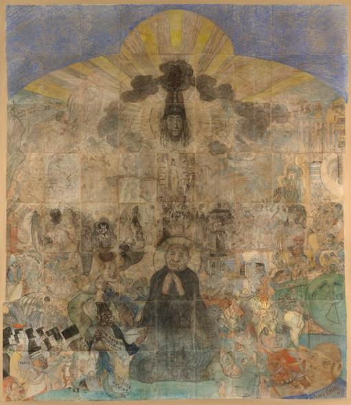 "James Ensor. ""The Temptation of Saint Anthony,"" 1887"