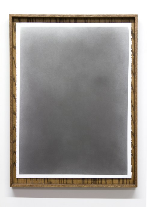 "Nate Young. ""Untitled Diagram No. 10 from Diagrams with my Father,"" 2014 graphite on paper in artist made oak frame, 33"" x 24"""