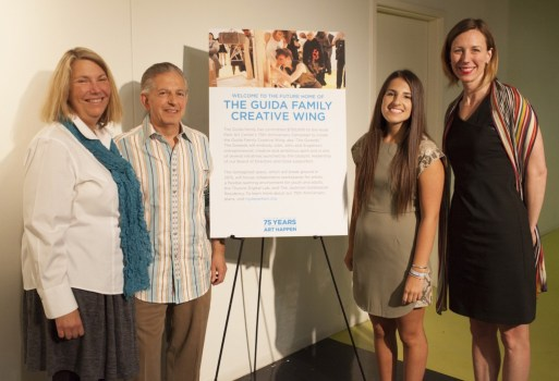 The Guida Family and Executive Director Kate Lorenz at Hyde Park Art Center. Photo: Joel Wintermantle.