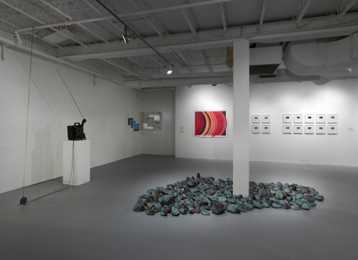 """Installation view of """"Cosmosis"""" at the Hyde Park Art Center. Photo by Tom Van Eynde."""